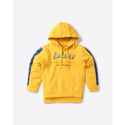 AJIO Hoodie with Typographic Applique