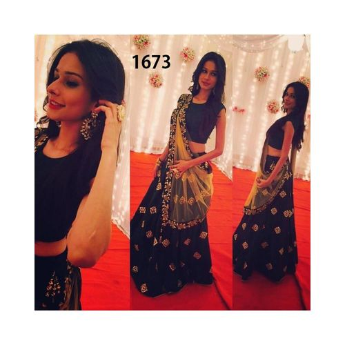 de8feebbce S; AIKA New Bollywood Designer Embroidered Blue Party Wear Lehenga Choli.