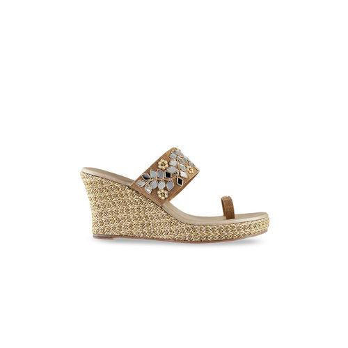 7d120e940 Buy Mochi Women Gold-Toned Woven Design Sandals online