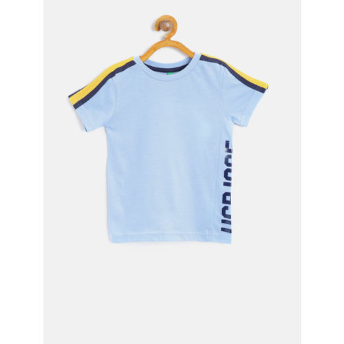 bd3a612cf Buy United Colors of Benetton Boys Blue Solid Round Neck T-shirt ...