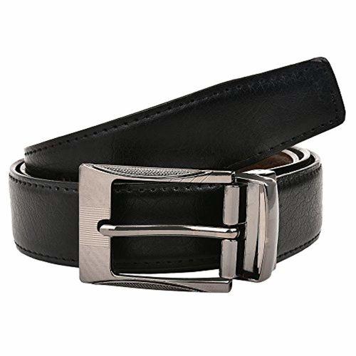 CREATURE Black & Brown Pu Lether Designer Military Buckle Formal Belt