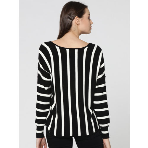 ONLY Black & White Pullover Sweater