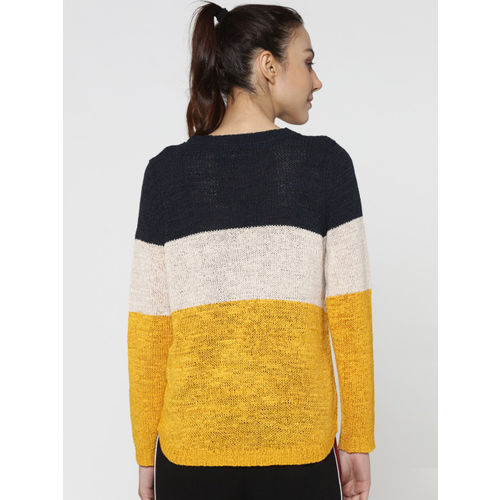 Only Round Neck Striped Women Pullover
