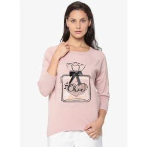 ONLY Pink Printed Sweater