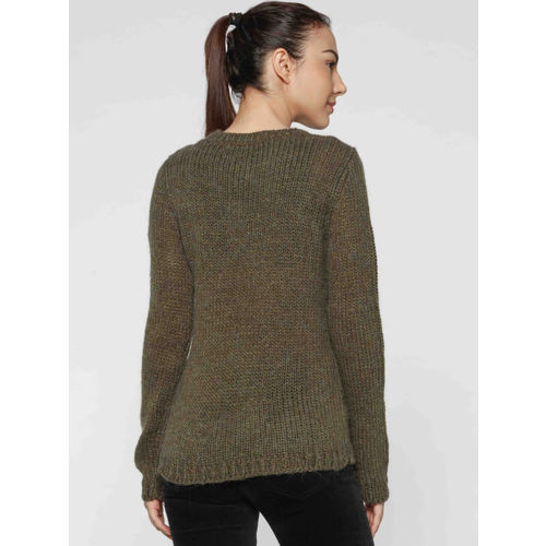 ONLY Women Olive Green Solid Pullover