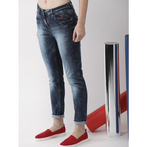 Harvard Women Blue Slim Fit Mid-Rise Jeans
