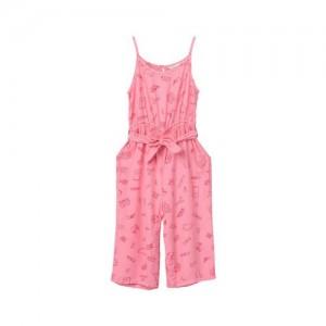 Beebay Pink Printed Basic Jumpsuit