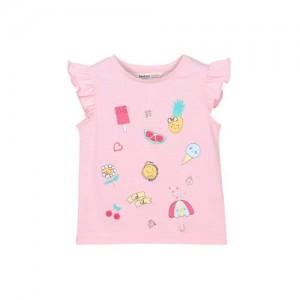 Beebay Pink Printed Kids Girls T-Shirt