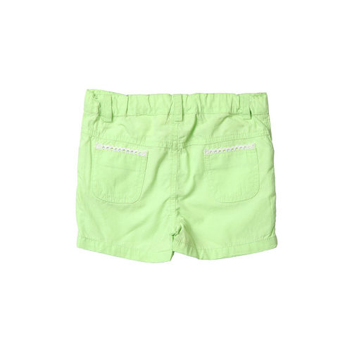 Beebay Girls Lime Green Lace Shorts