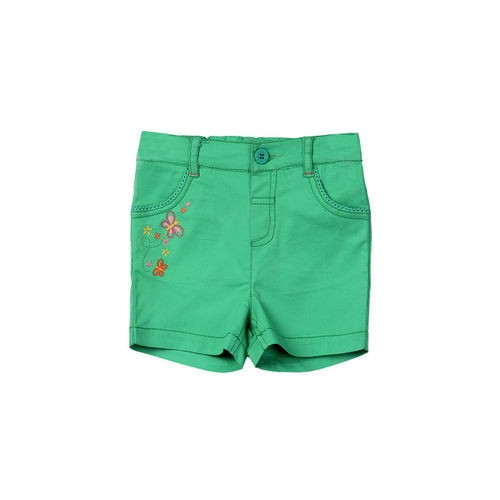Beebay Girls Green Cotton Shorts