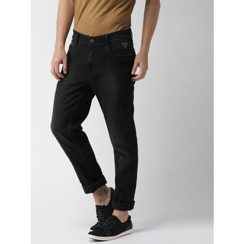 a5f48482345c8 ... Harvard Men Black Slim Fit Mid-Rise Clean Look Stretchable Jeans ...
