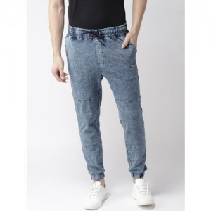 Harvard Men Blue Regular Fit Solid Joggers