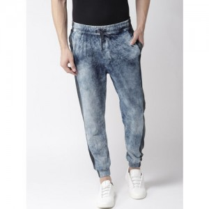 Harvard Men Blue Regular Fit Faded Joggers