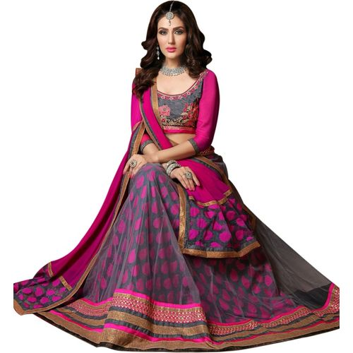 Litera Embellished Lehenga Choli(Multicolor)