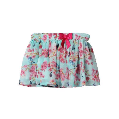 cfaf09bc7a Buy Beebay Girls Blue & Pink Floral Print Flared Skirt online ...