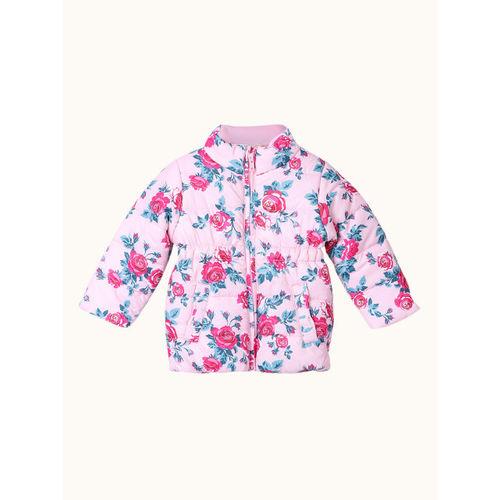 Beebay Girls Pink Printed Padded Jacket