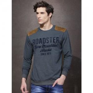 Roadster Grey Flock Print T-shirt