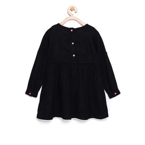 Bella Moda Kids Black Embroidered Dress