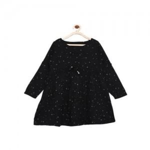 Bella Moda Kids Black Printed Dress