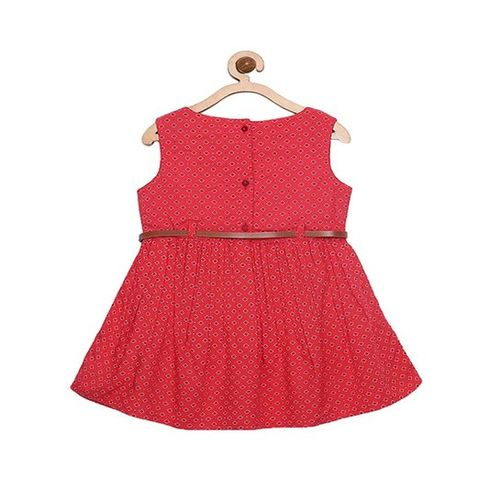 Bella Moda Kids Red Printed Dress