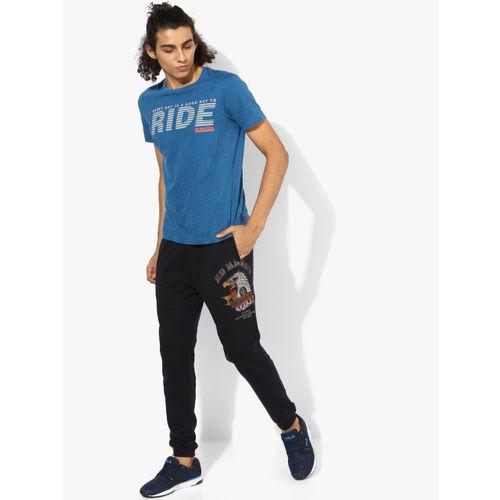 Lee Blue Printed Slim Fit Round Neck T-Shirt