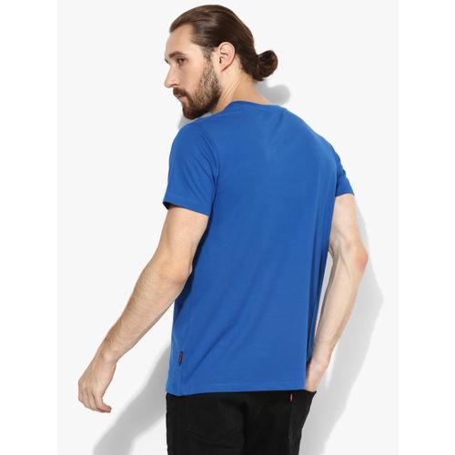 Lee Blue Graphic Slim Fit Round Neck T-Shirt