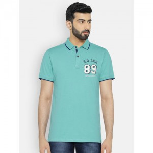 85d8abf272 Buy Arrow Blue Jean Co. Men Khaki Solid Polo T-Shirt online ...