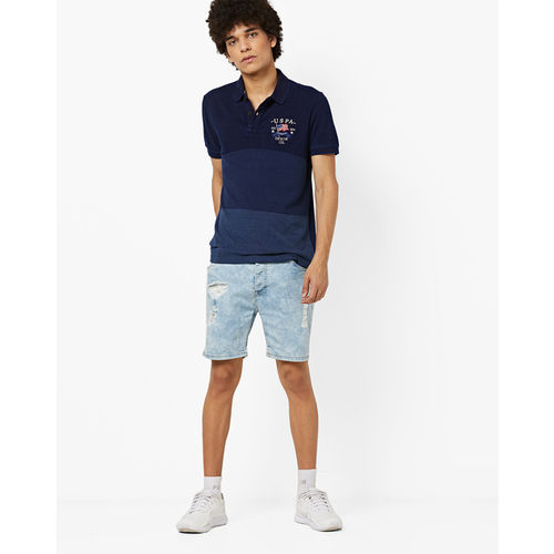 U.S. Polo Assn. Polo T-shirt with Contrast Panels