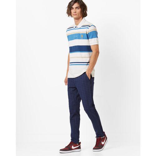 U.S. Polo Assn. Colourblock Striped Polo T-shirt