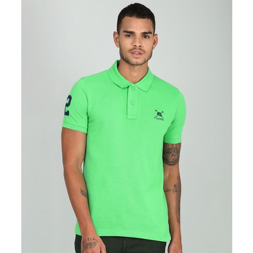 U.S. Polo Assn Solid Men's Polo Neck Green T-Shirt