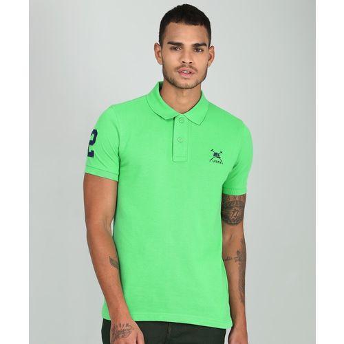 U.S. Polo Assn Solid Men's Polo Neck Green T-Shirt