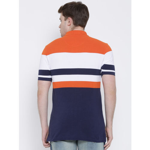 U.S. Polo Assn. Orange & Navy Striped Polo T-shirt
