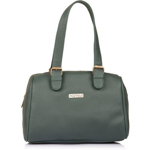 Fostelo Green Polyurethane Shoulder Bag