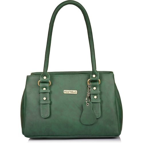 Fostelo Green Pu Textured Shoulder Bag
