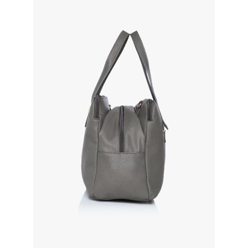 Caprese Grey Synthetic Stylish Handbag