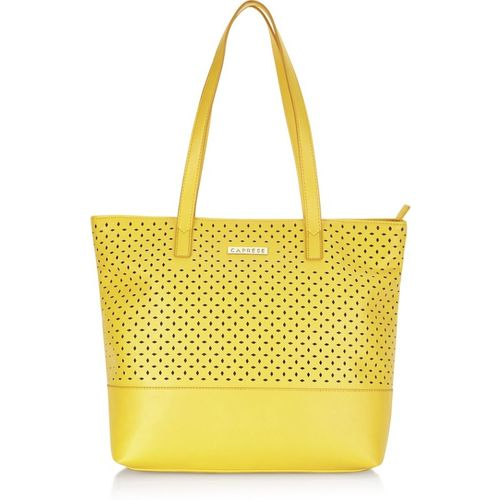 Caprese Yellow PU Shoulder Bag