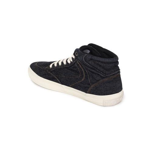 Levis Men Black BASS Mid-Top Sneakers
