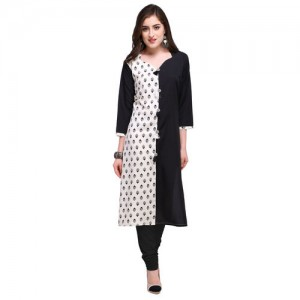 Envy9 Multicolor Crepe Stitched Printed Kurti