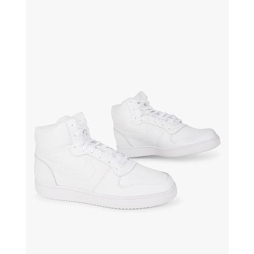 Nike Men White Solid Ebernon Mid-Top Sneakers
