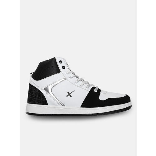 HRX by Hrithik Roshan Men White Solid Mid-Top Sneakers