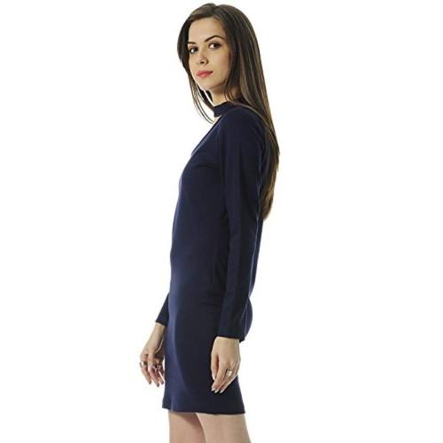 FabAlley Women's Blue Body Con Mini Dress