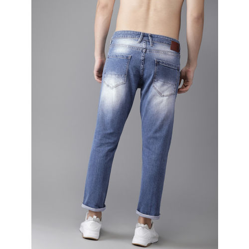 HERE&NOW Men Blue Slim Tapered Fit Mid-Rise Mildly Distressed Jeans