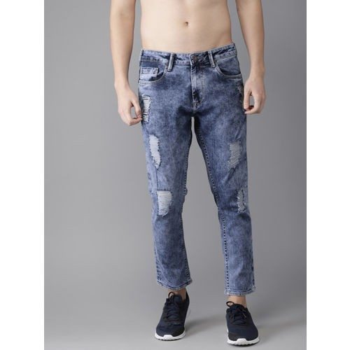 HERE&NOW Blue Denim Mid-Rise Casual Jeans