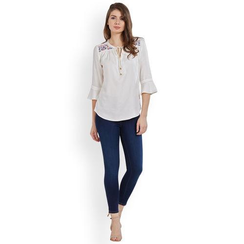 Kraus Jeans Women Blue Slim Fit High-Rise Clean Look Jeans