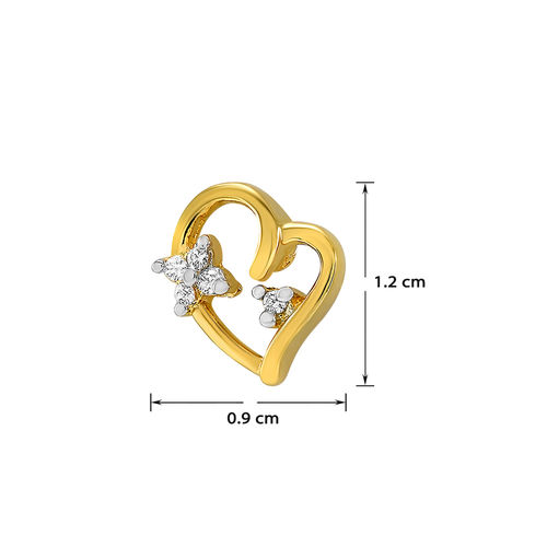 Meia Gold Plated White Alloy Studs For Women