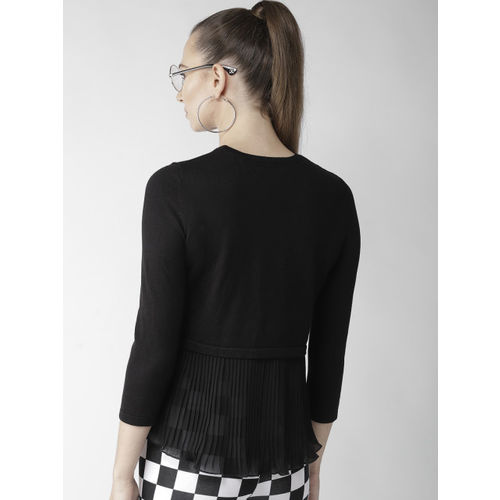 FOREVER 21 Women Black Solid Pullover