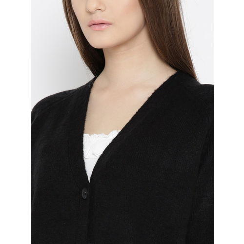 FOREVER 21 Women Black Solid Cardigan