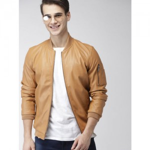 Mast & Harbour Men Brown Solid Bomber