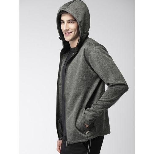 Mast & Harbour Men Charcoal Grey Solid Sporty Jacket