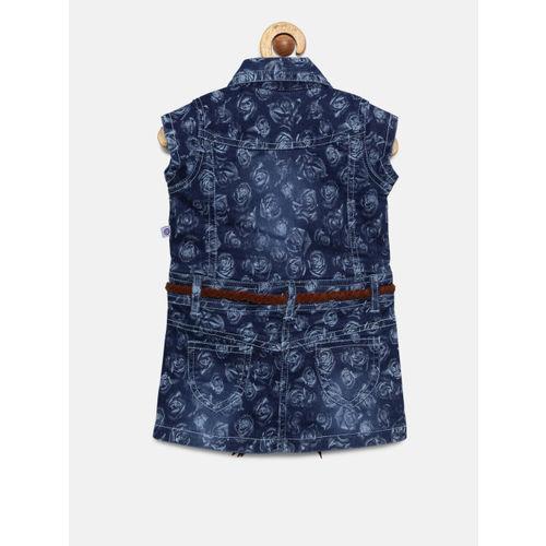 Peppermint Girls Blue Denim A-line Dress